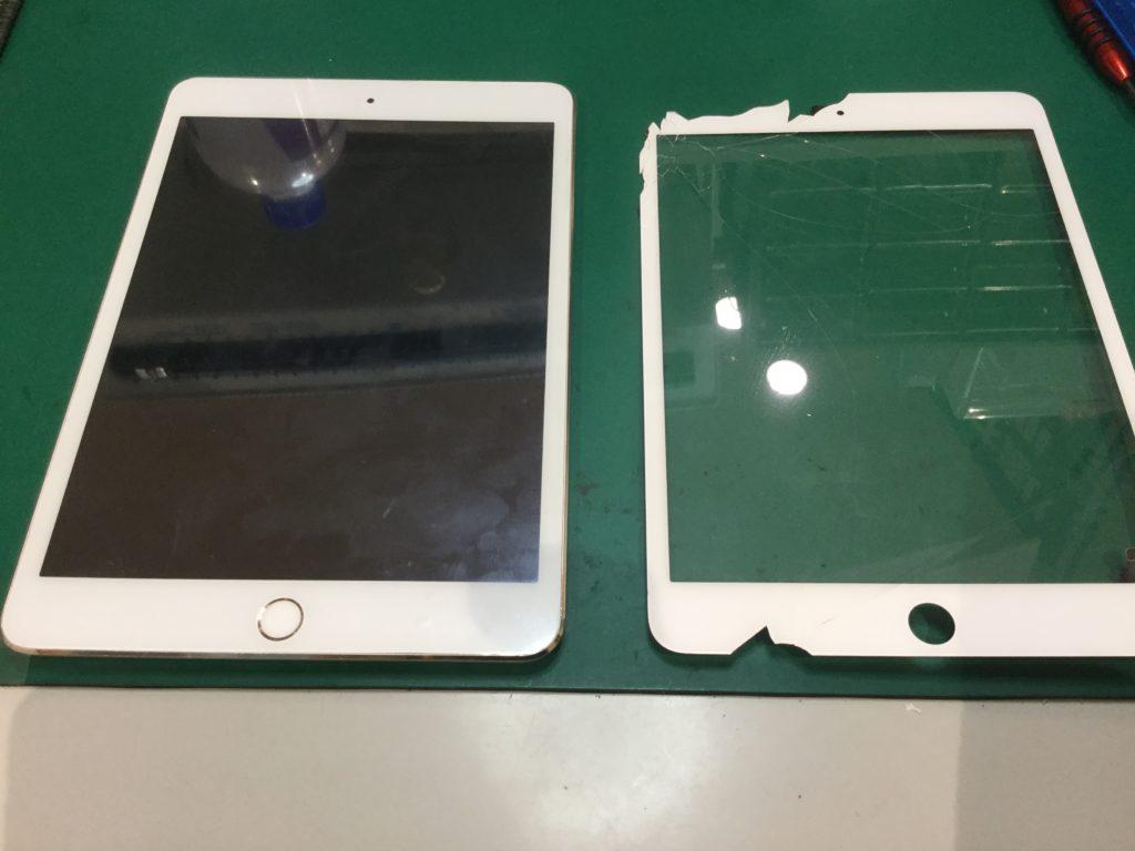iPadガラス割れ修理